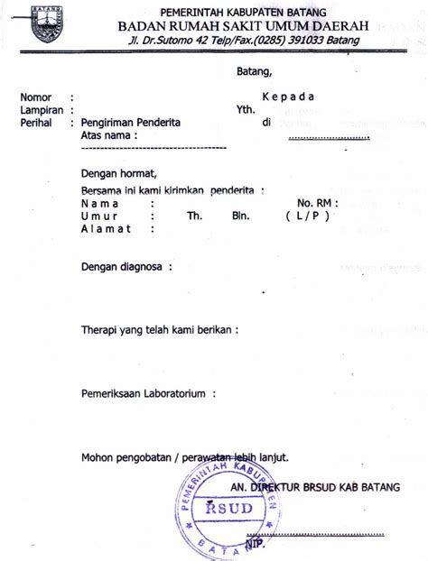 Contoh Surat Dokter Rumah Sakit Islam Surabaya