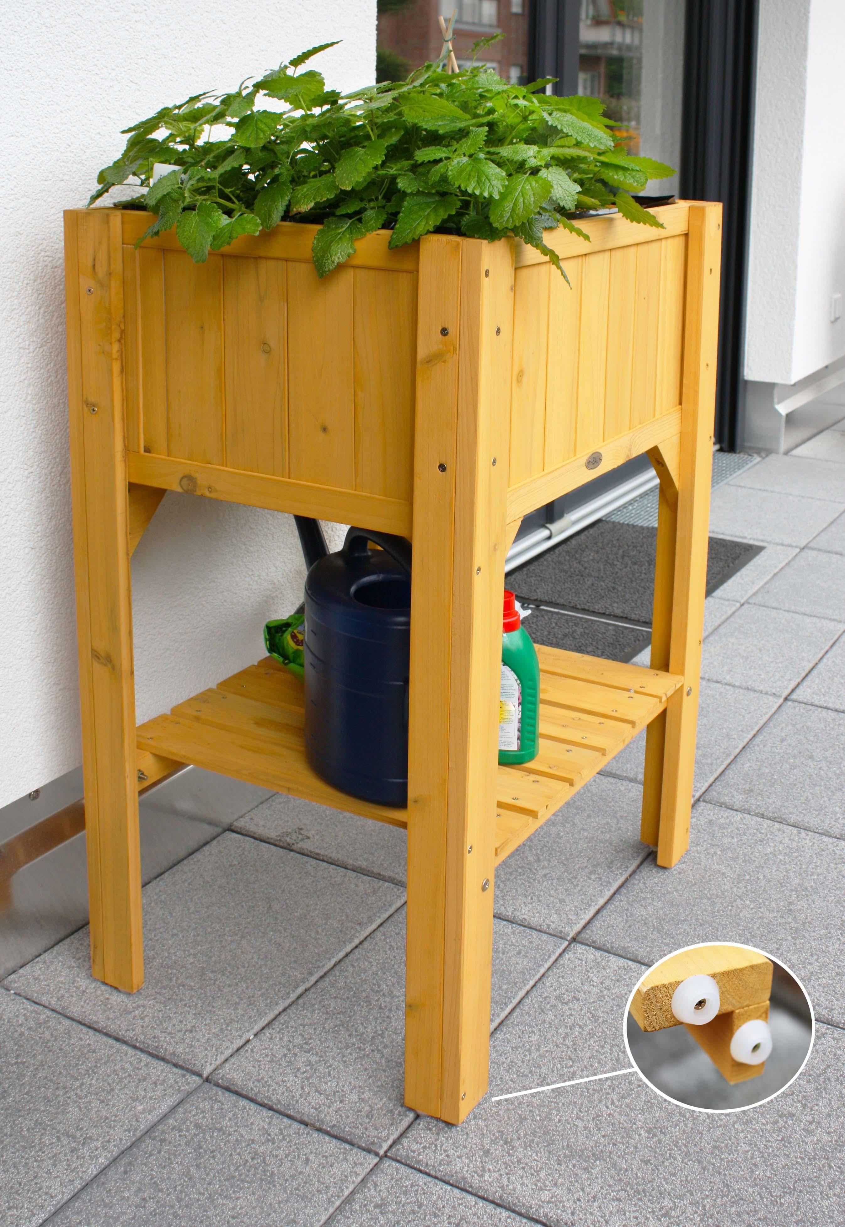 Hochbeet Aus Holz Habau 2853 Hochbeet Mit Ablage Anjas Hochbeete Hochbeet Garten Hochbeet Und Hochbeet Holz