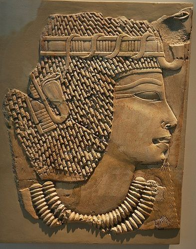 Relief Fragment representing Queen Tiye,18th dynasty Ancient Egypt RFRQ