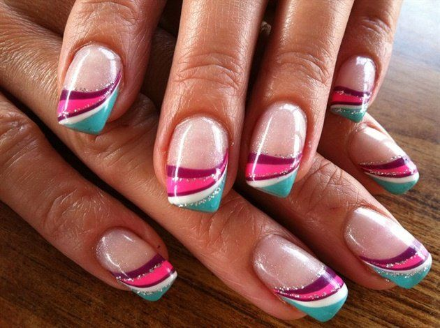 Line Art Nails : Fancy nail art gallery candy lines nails