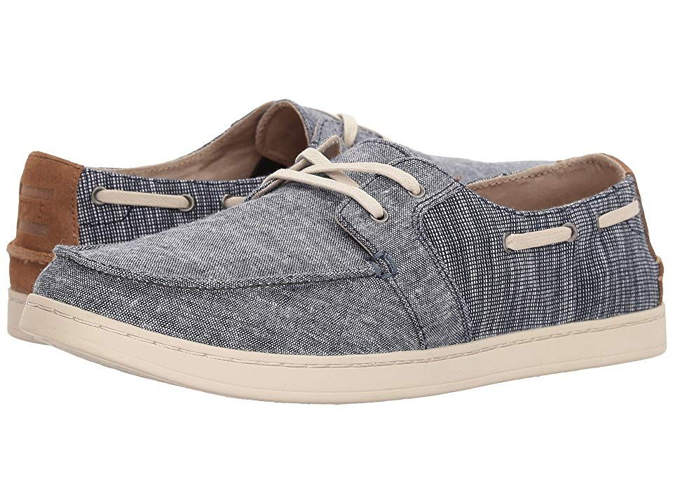 2e49ec45800 TOMS Culver Lace-Up (Navy Chambray Mix) Men s Lace up casual Shoes ...