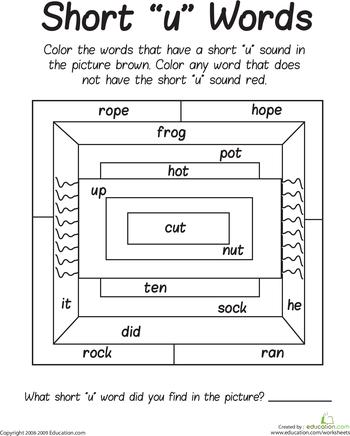 Short Reading/Phonics Phonics worksheets, First grade