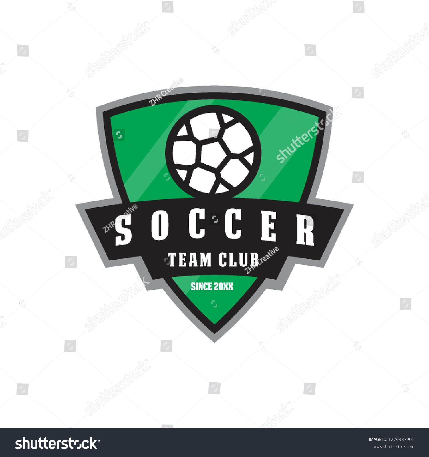 Football Soccer Team Club League Emblem Badge Competition In Shield Shape Logo Icon Vector Template In 2020 Soccer Team Football Soccer Soccer
