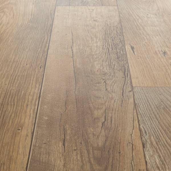 Rhino Classic Flanders Beige Brown Wood Effect Vinyl Flooring Home