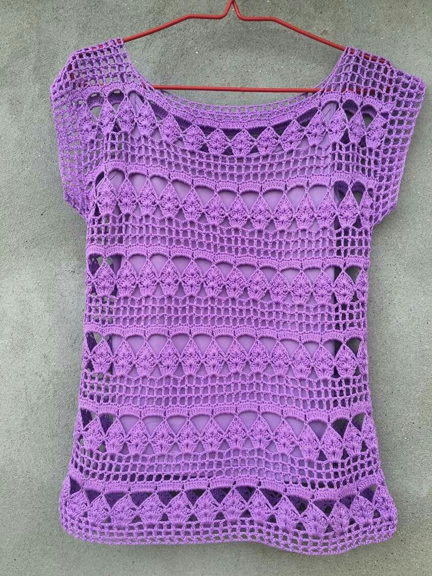 Pin de Celestina en Croché | Pinterest | Blusas, Blusas tejidas y Tejido