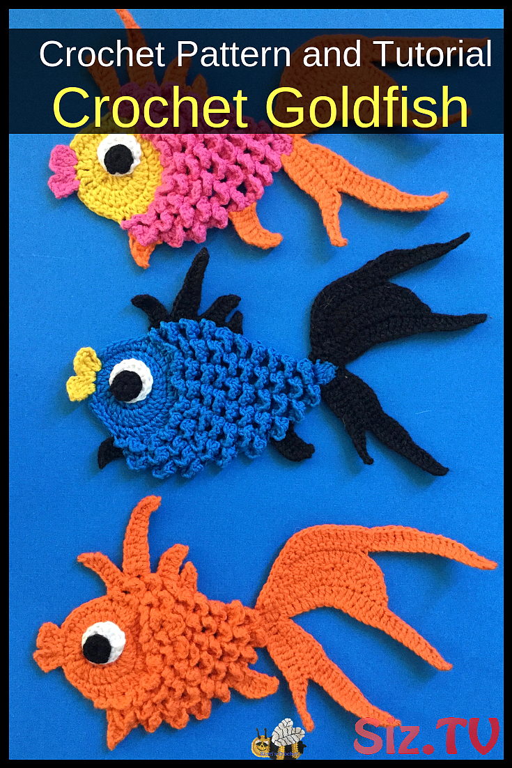 How to crochet a goldfish - YouTube | 1102x735