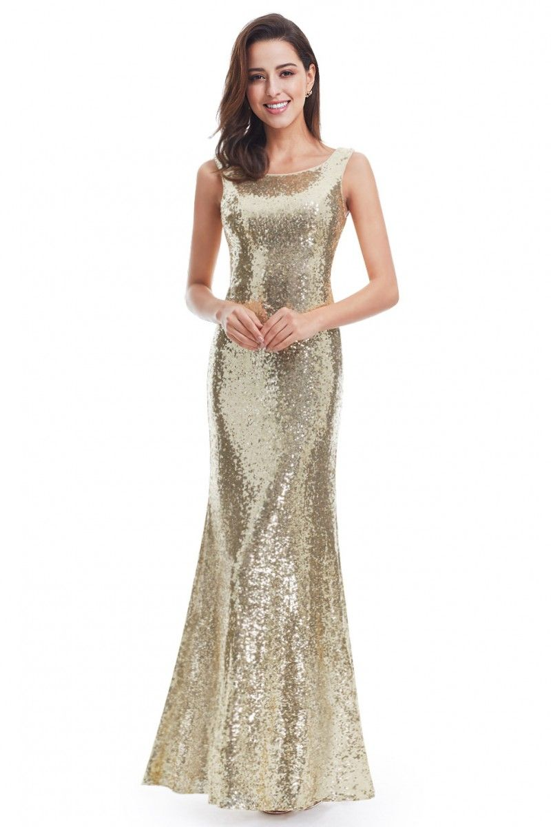 Shop Women s Gold Long Open Back Sequin Prom Party Dresses online. SheProm  offers formal bec09a5c46