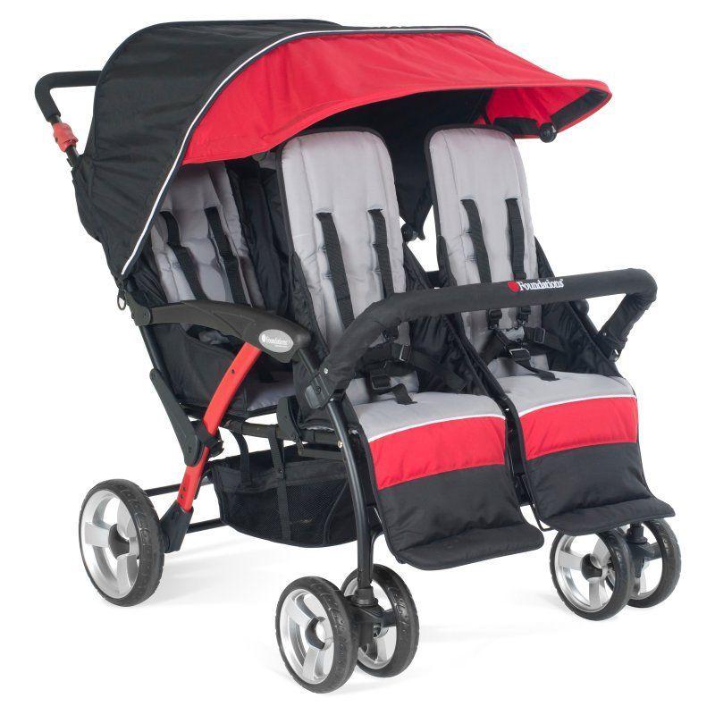 Foundations Quad Sport 4Passenger Stroller Red 4141079
