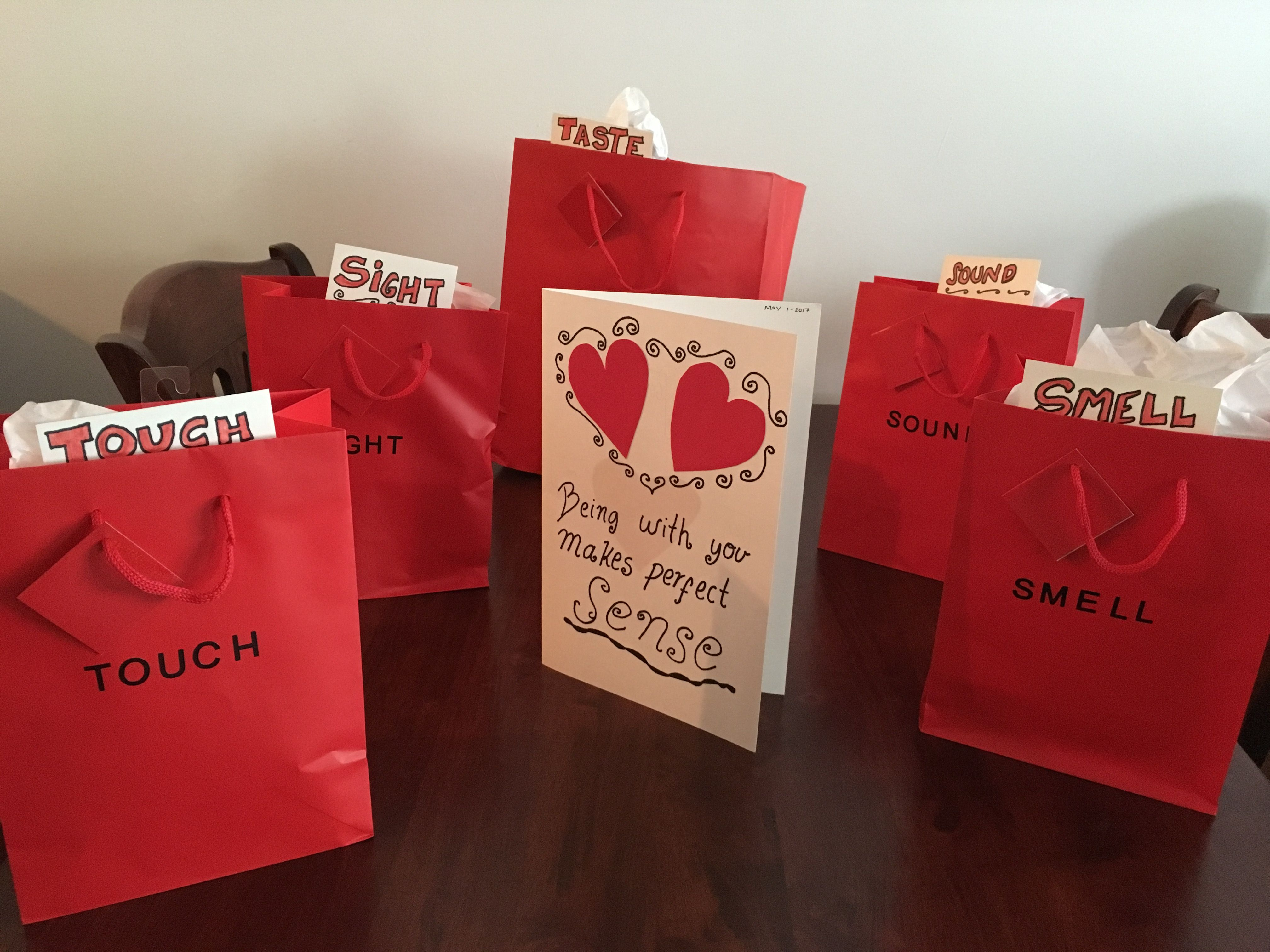 Five senses Anniversary gifts for fiancé ️ Gifts for