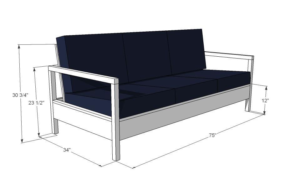 Simple White Outdoor Sofa Outdoor Sofa Furniture Plans Diy Sofa