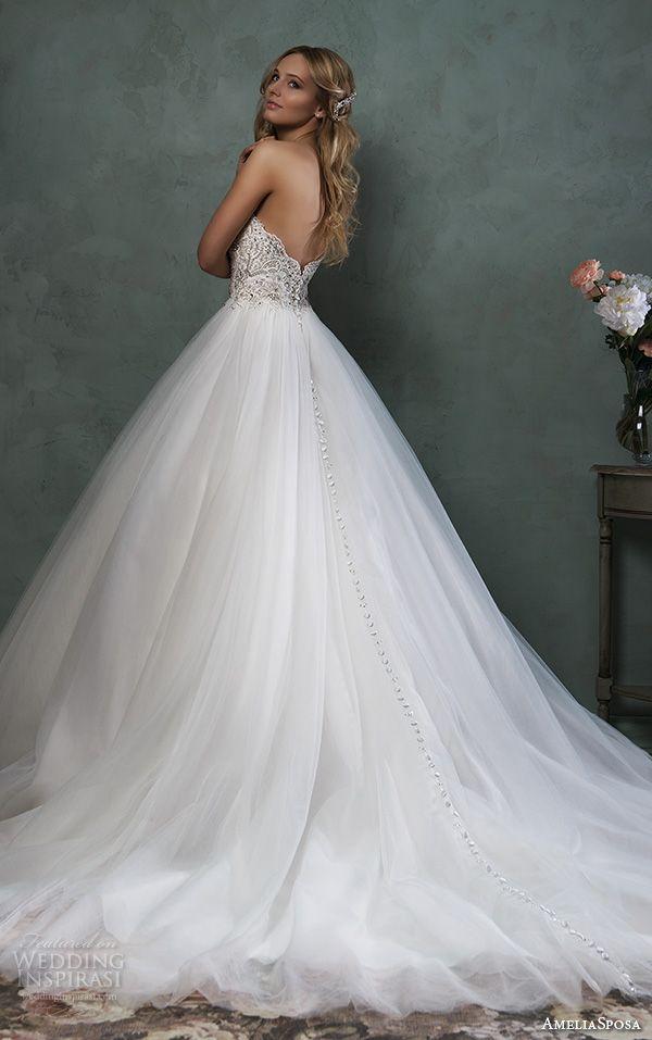 Amelia Sposa 2016 Wedding Dresses | Scallops, Wedding and Dress ...