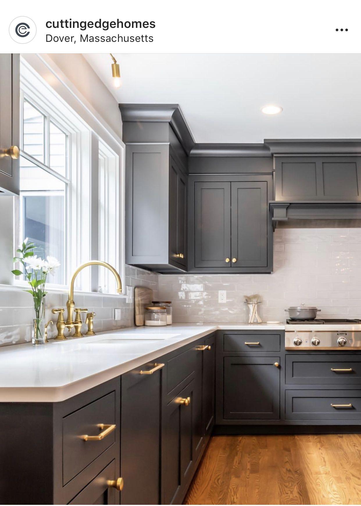 Benjamin Moore Wrought Iron In 2020 Diy Kitchen Renovation Grey Kitchen Cabinets Kitchen Design