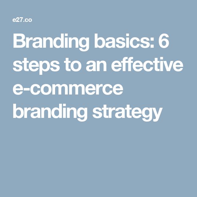 Branding Basics  Steps To An Effective ECommerce Branding