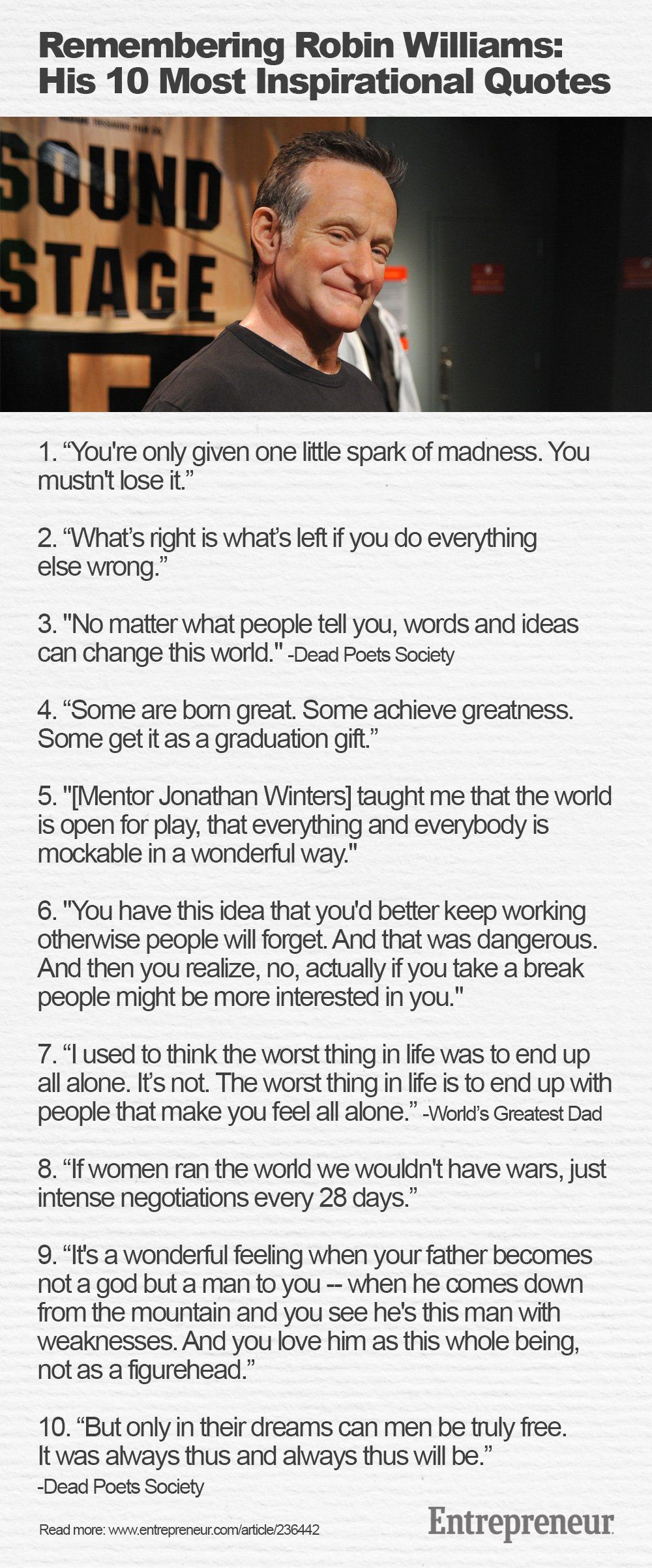 10 Inspirational Robin Williams Quotes Robin Williams Quotes Inspirational Quotes Robin Williams