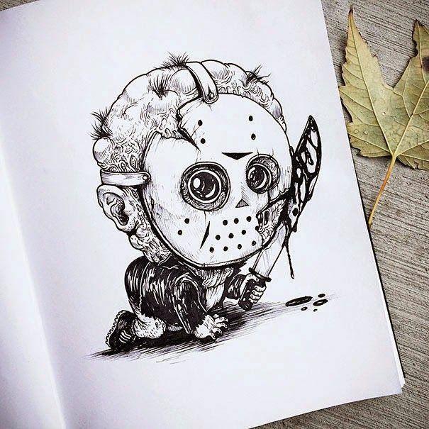 Drawing Horror Art Film Artist