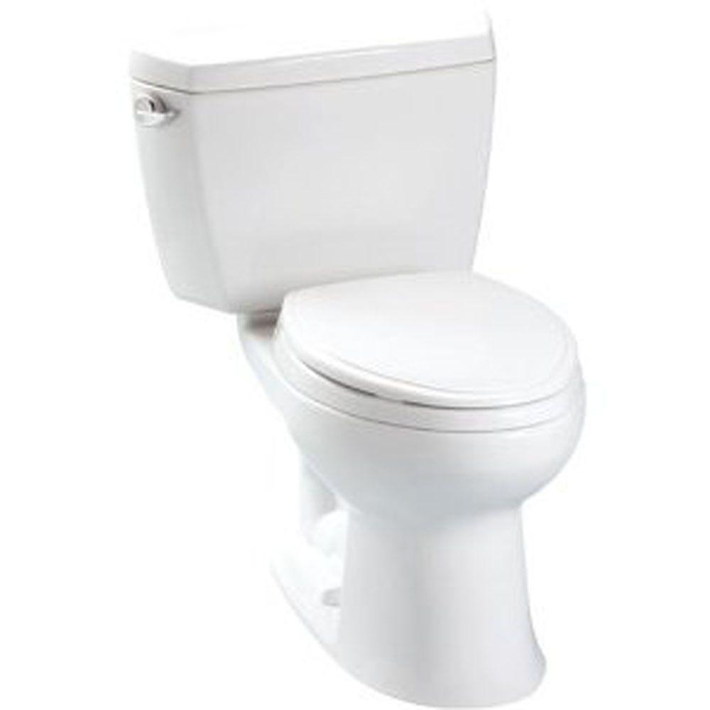 Toto Eco Drake 2 Piece 1 28 Gpf Single Flush Elongated Toilet In Cotton White Cst744e 01 Toto Toilet Toilet Toto