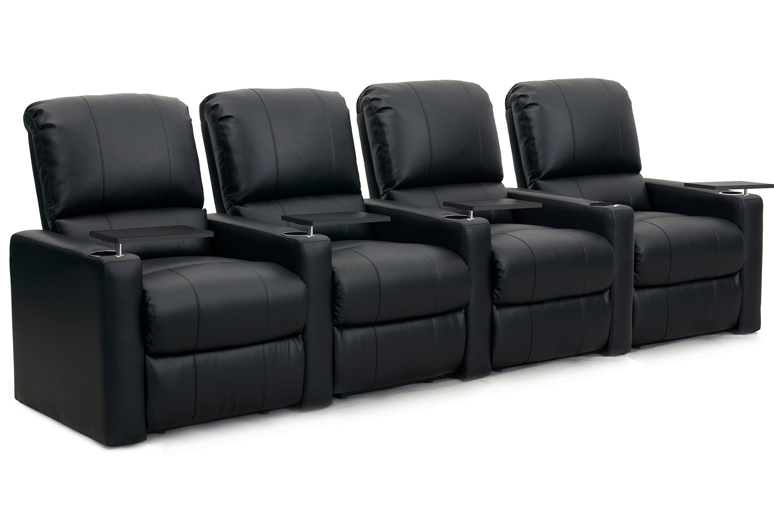 Octane Seating Chargerr4smbndbl Octane Charger Xs300 Leather Home Theater Recliner Set Row Of 4 B Home Theater Furniture Home Theater Seating Theater Recliners