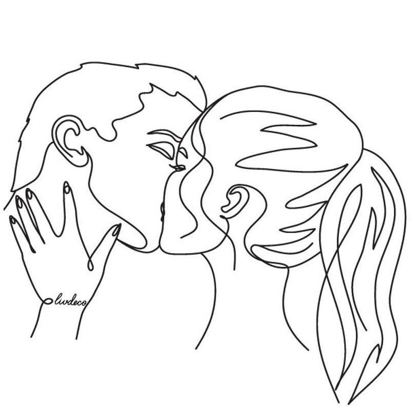 Custom Couple Portrait Personalized Valentine S Day Gift One Line Drawing Wedding Inv In 2020 Drawings For Boyfriend Personalized Valentine S Day Gifts Line Drawing