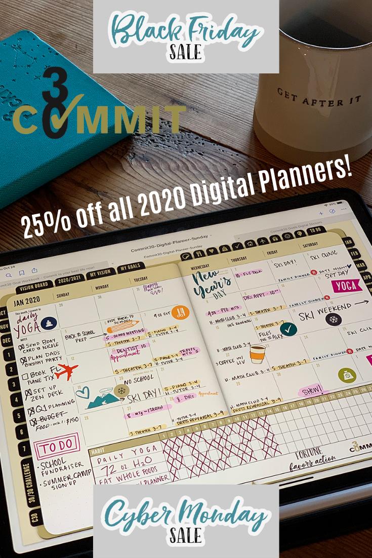2020 Digital Planner (For iPad + GoodNotes5 App) Bullet