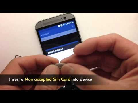 Unlock HTC One M8 - How to Sim Unlock HTC One M8 Network to work on