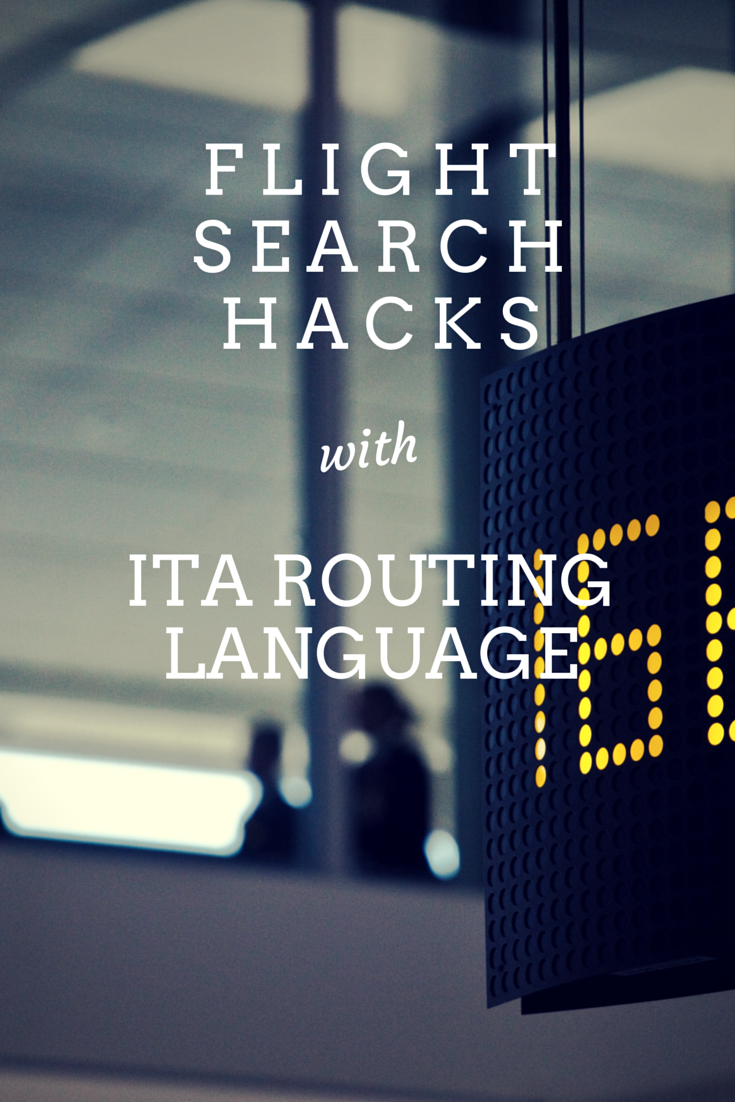Learn about the cryptic ITA routing codes and become a real flight search hacker!