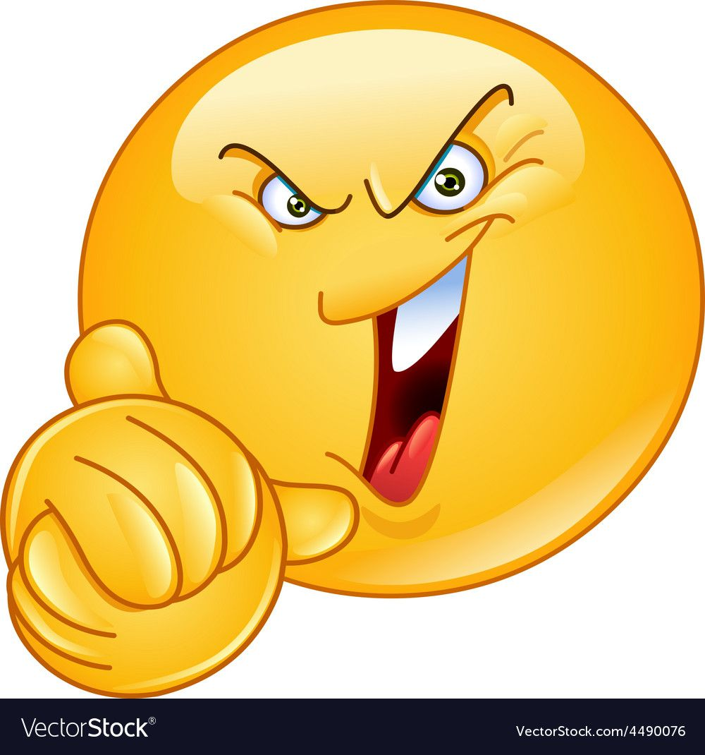 Evil Emoticon With Wringing Hands Vector Image On Vectorstock Funny Emoticons Funny Emoji Emoticon