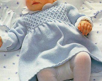 Lace baby dress knitting patterns