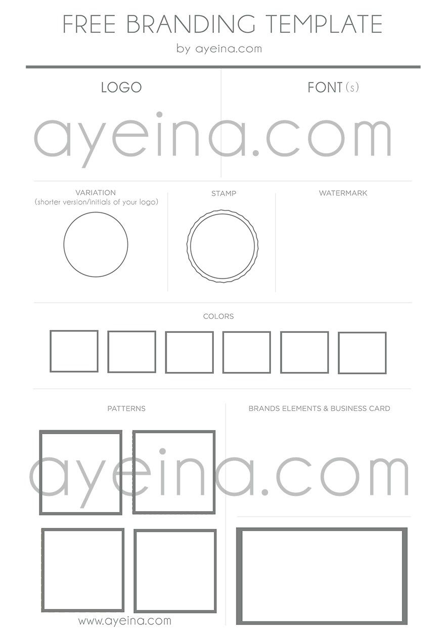 free branding template - 10 Steps to Turn Your Idea Into a Product | AYEINA
