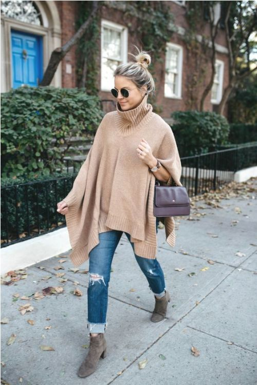 16d9274ddf Cape poncho-Winter quick and easy fashion tips – Just Trendy Girls ...