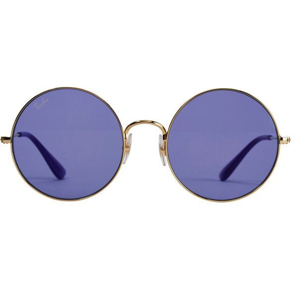 ec58e373c07 The Jajo Purple Round Sunglasses ( 165) ❤ liked on Polyvore featuring  accessories
