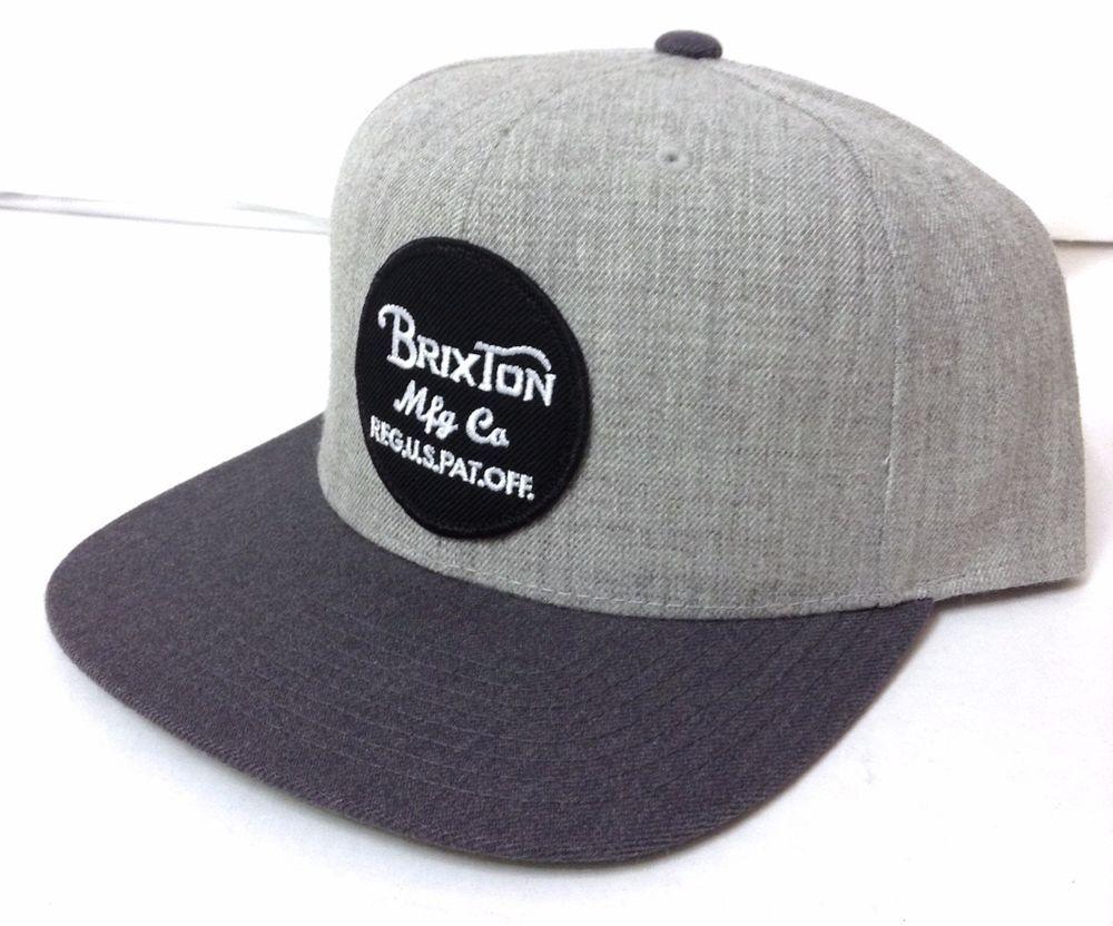 c13b18769 New$30 BRIXTON SNAPBACK 2-tone-Gray Black&White Circle Patch Flat ...
