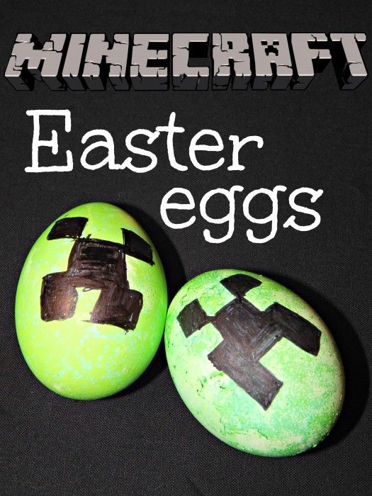 How To Make Minecraft Creeper Easter Eggs With Hallecake Minecraft Easter Eggs Easter Eggs Easter Images