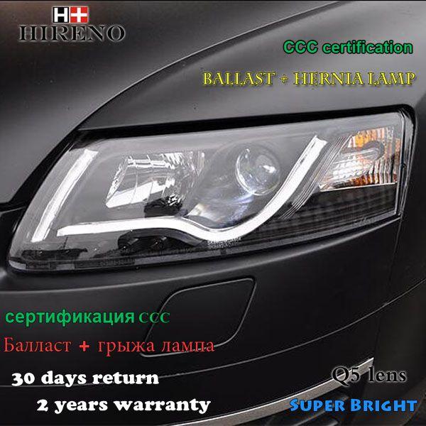 Hireno Car Styling Headlamp For 2005 2012 Audi A6 C5 Headlights Led Headlight Assembly Drl Angel Lens Double Beam Led Headlights Headlight Assembly Car Lights