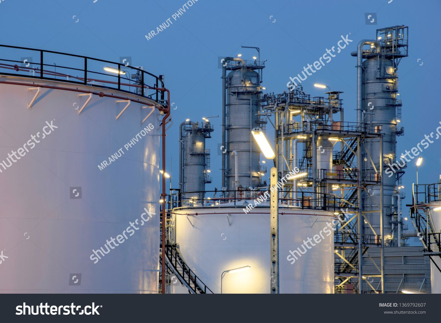Oil And Gas Industrial Oil Refinery Plant Form Industry Refinery Factory Natural Gas Storage Tank And Pip With Images Oil Refinery Stock Photos Oil And Gas
