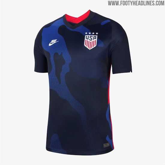 Nike Usa 2020 Home Away Kits Revealed Footy Headlines In 2020 Soccer Uniforms Design Jersey Outfit Usa Soccer Jersey