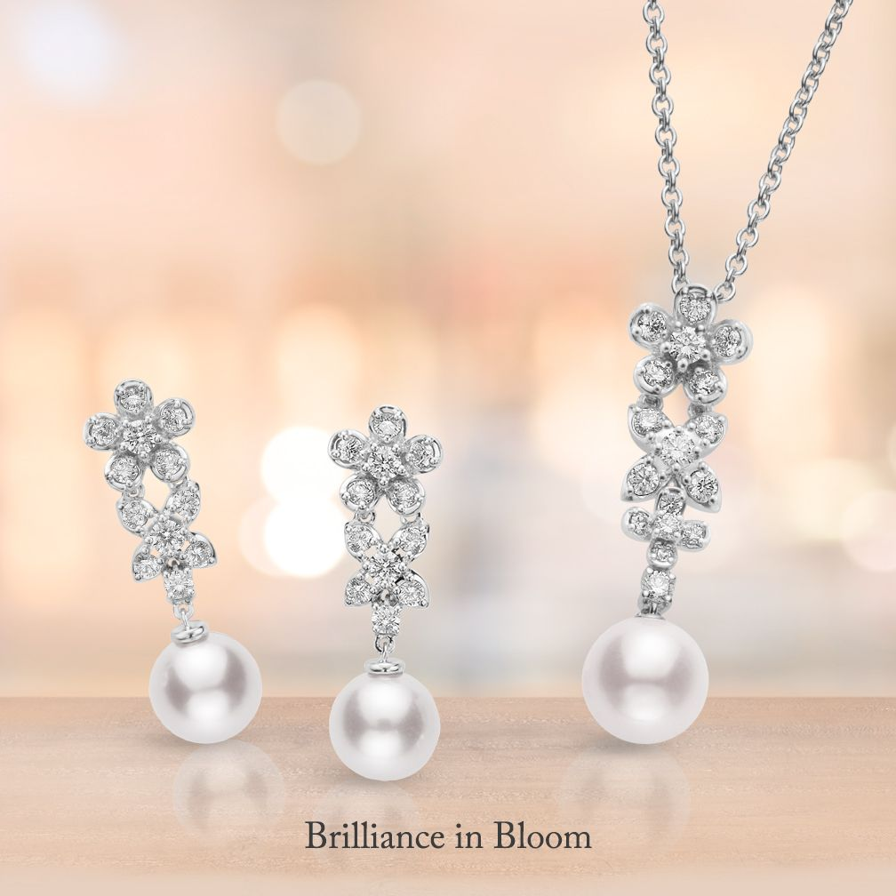 #Mikimoto's newest Bouquet collection represents a bountiful bouquet of various wild #flowers.