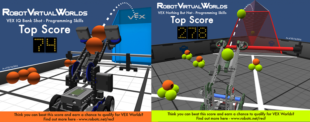 UPDATE NEW High Scores for our VEX Virtual Programming
