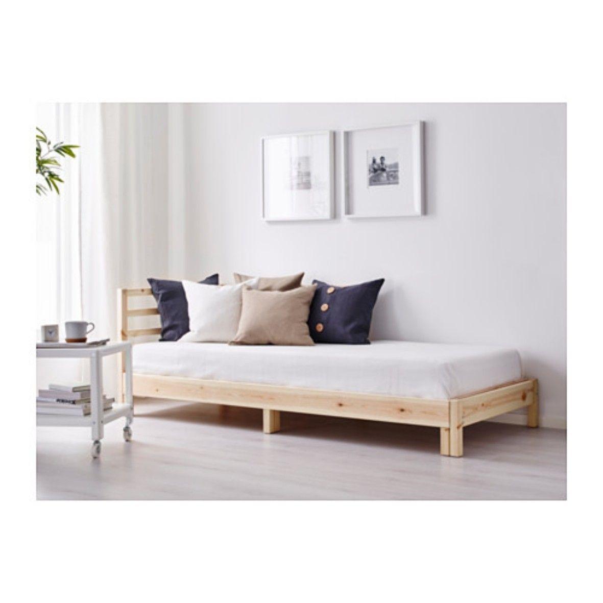 Ikea Tarva Bett Schlafsofa 149 Eur Holz Haus Wohnen Wohnung