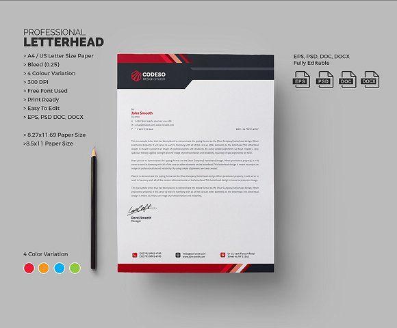 Corporate Letterhead Letterhead template, Adobe photoshop and