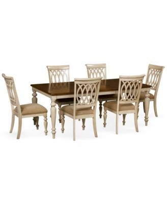 Dovewood Dining Room Furniture 7 Piece Set Table And 6 Side