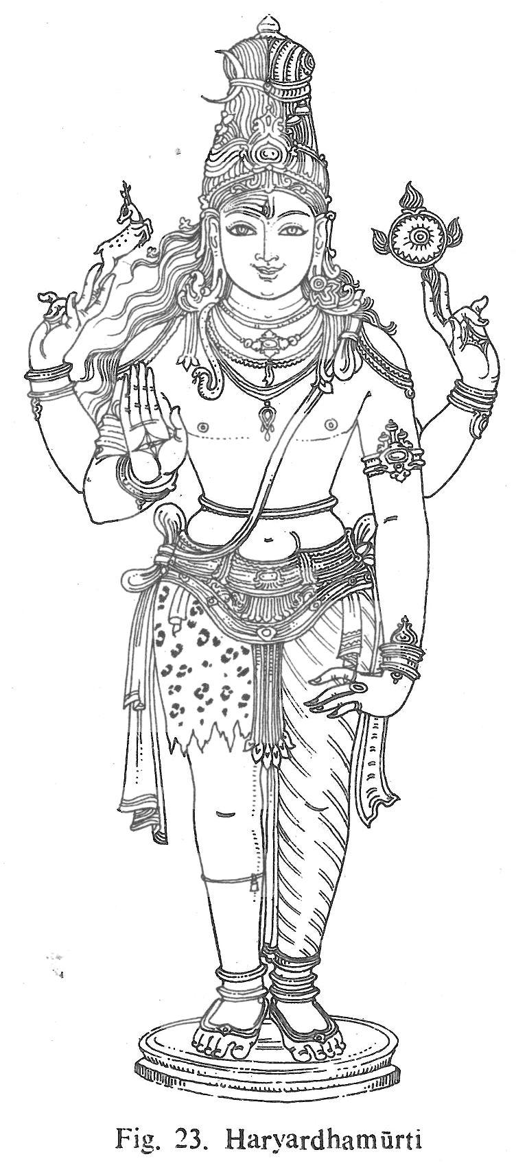 Haryardhamurti a combination of shankara and vishnu