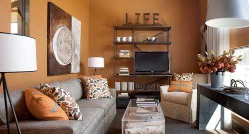 Tangerine Tango Orange Living Room