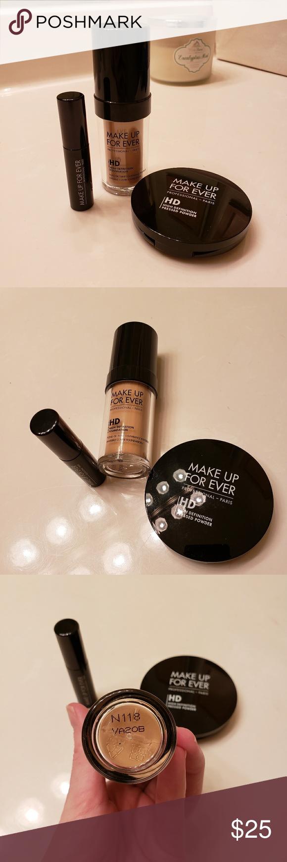 Makeup Forever Bundle HD Foundation color N118, HD Pressed