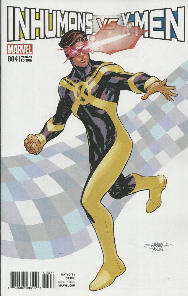 Marvel Inhumans Vs X Men Comic Issue 4 Limited Cyclops Variant Man Thing Marvel Marvel Comics Art X Men