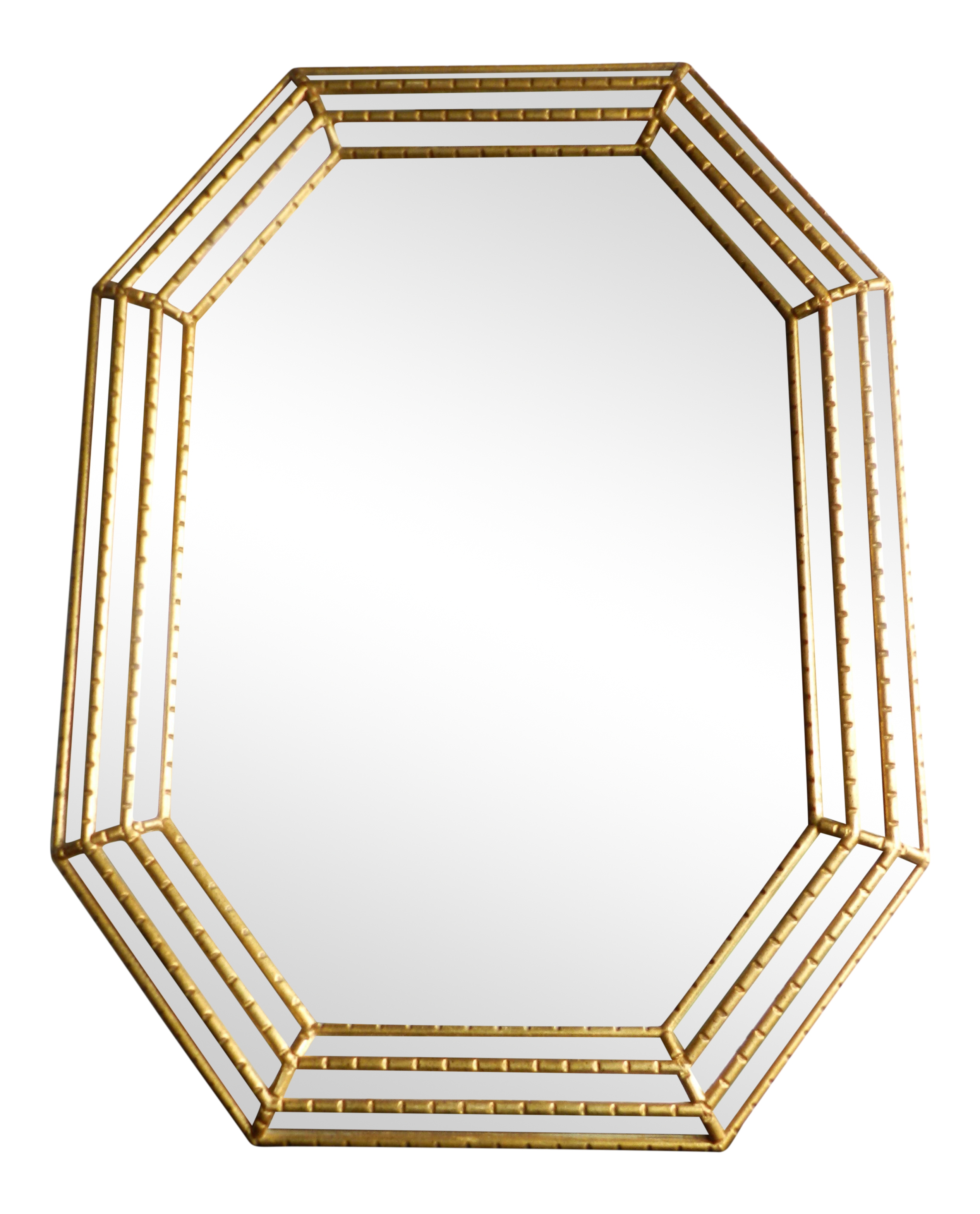 Mid Century Modern Italian Octagon Shaped Mirror The Mirror Is Made Out Of Wood And Painted Gold The Brackets Have And E Mirror Mirror Wall Beautiful Mirrors
