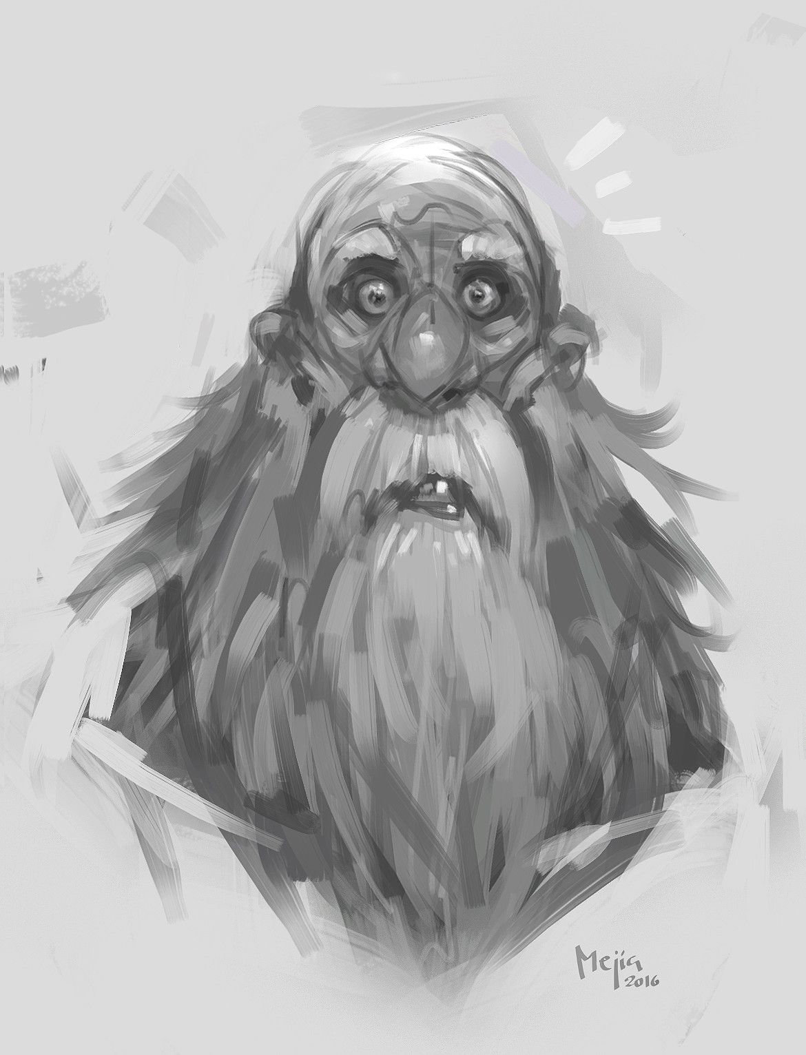 Old man sketch, Luis Mejía