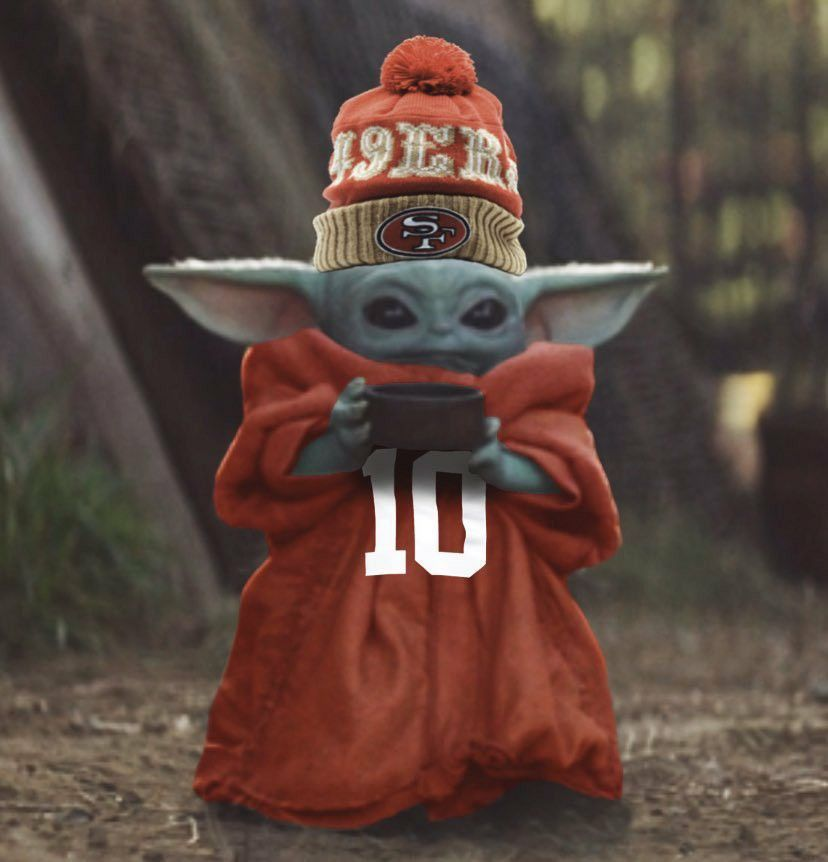 Pin By Jenny Tuffree On Baby Yoda In 2020 Sf 49ers Nfl 49ers Anime Funny