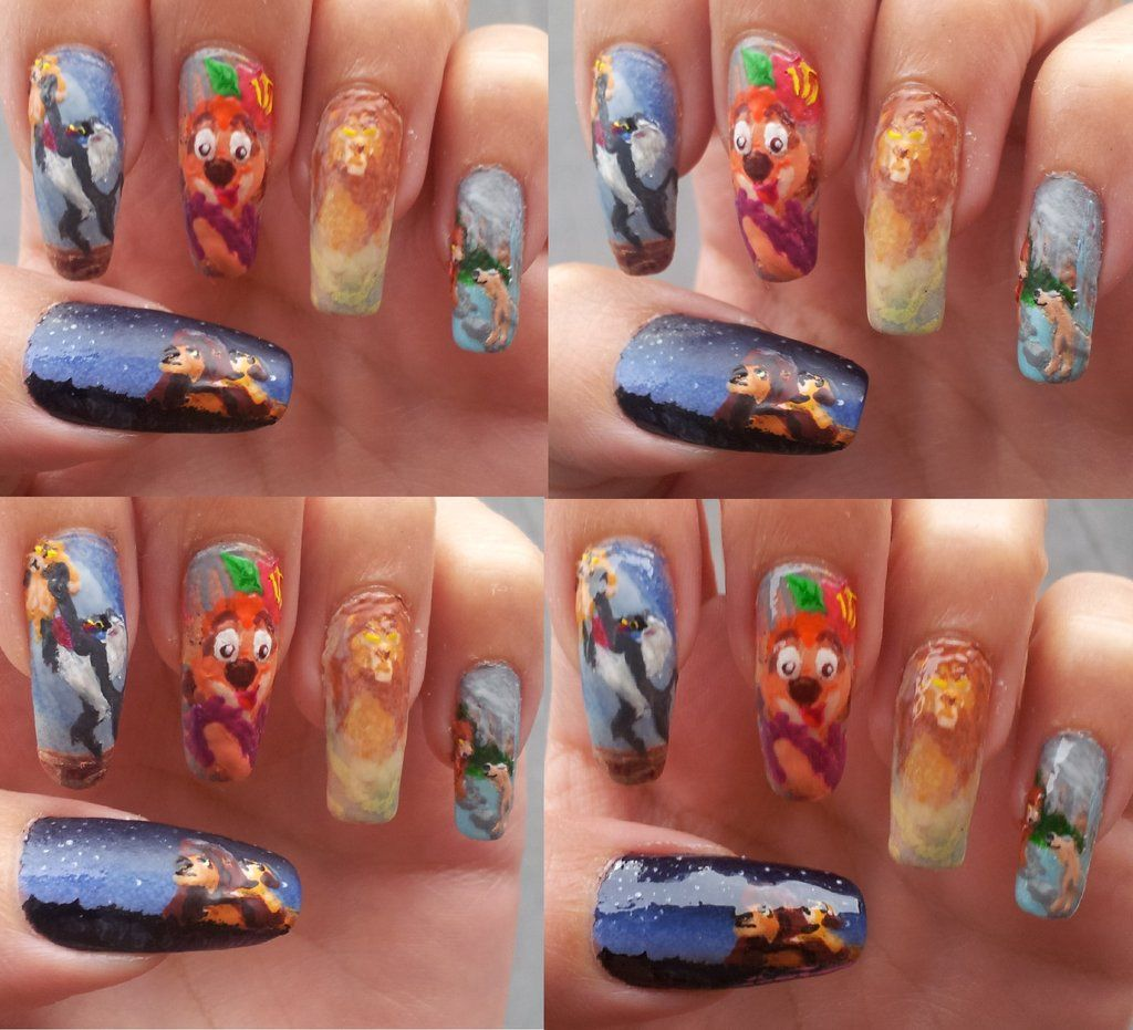 The Lion King nails | beauty | Pinterest