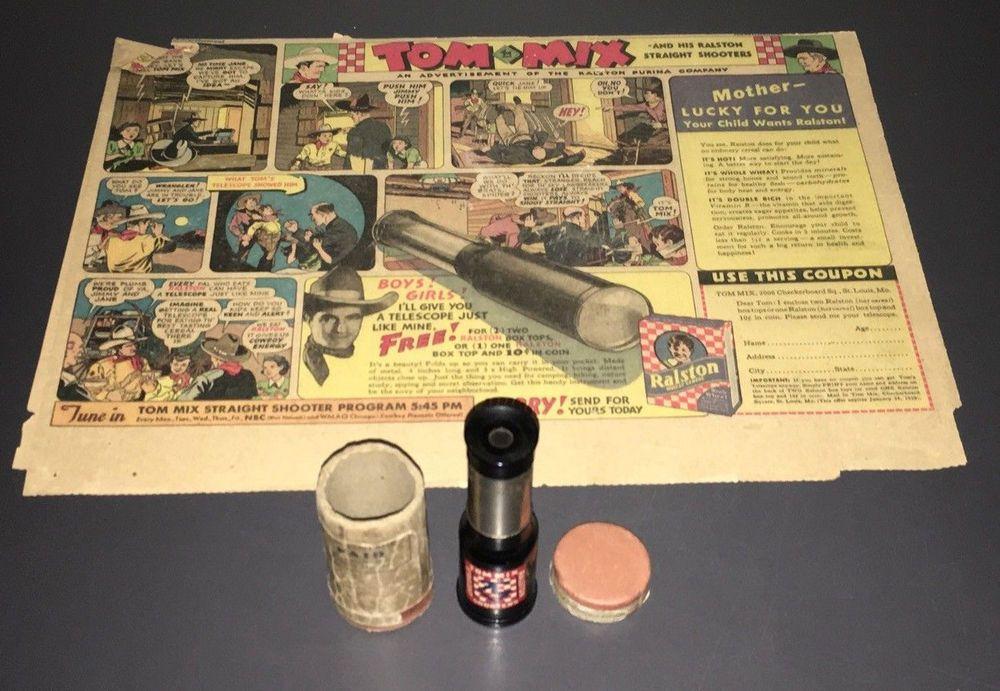1938 tom mix ralston metal telescope tmx 121 mailer orig sunday 1938 tom mix ralston metal telescope tmx 121 mailer orig sunday comic vf publicscrutiny Choice Image