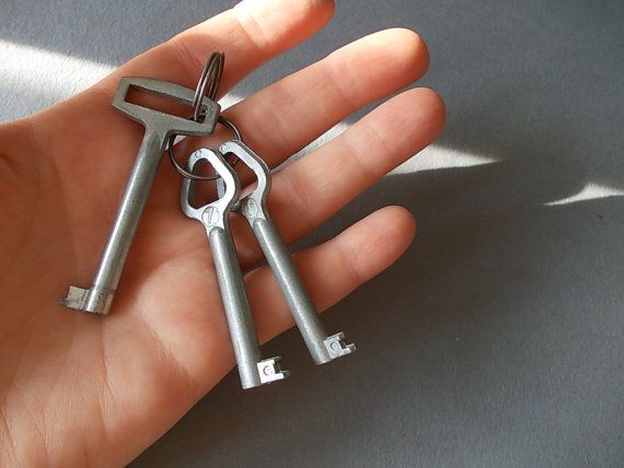 Vintage Key Set made in Soviet Russia circa 60's by EUvintage, $10.00